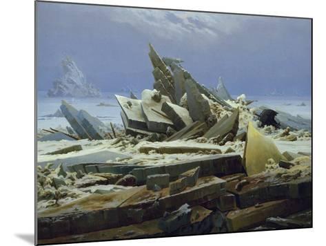 The Polar Sea (The Failed Hope), about 1823/24-Caspar David Friedrich-Mounted Giclee Print
