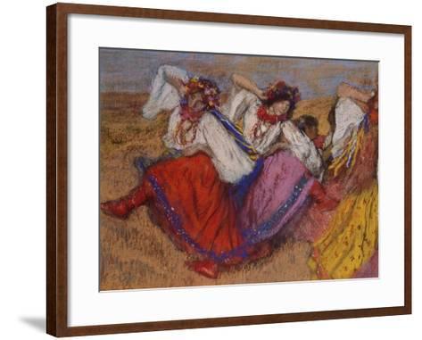 Russian Dancers, about 1895-Edgar Degas-Framed Art Print