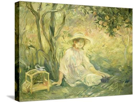 Junges Maedchen Unter Orangenbaeumen, 1889-Berthe Morisot-Stretched Canvas Print