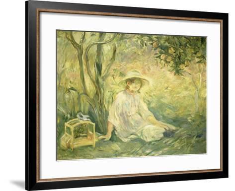 Junges Maedchen Unter Orangenbaeumen, 1889-Berthe Morisot-Framed Art Print