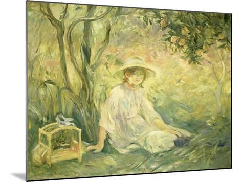 Junges Maedchen Unter Orangenbaeumen, 1889-Berthe Morisot-Mounted Giclee Print