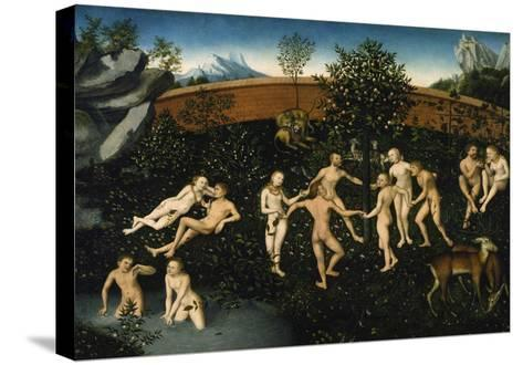 The Golden Age, about 1530-Lucas Cranach the Elder-Stretched Canvas Print