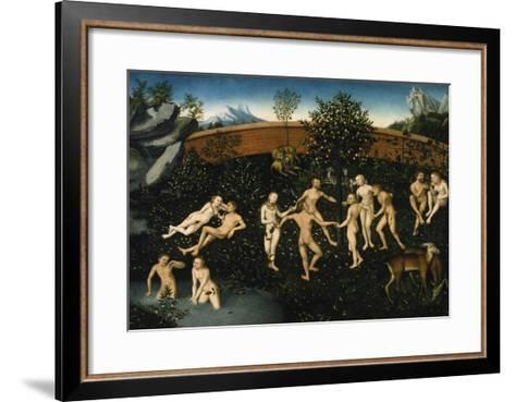 The Golden Age, about 1530-Lucas Cranach the Elder-Framed Art Print