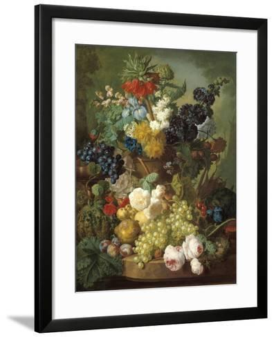 Still Life with Fruit and Flowers-Jan van Os-Framed Art Print