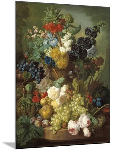 Still Life with Fruit and Flowers-Jan van Os-Mounted Giclee Print