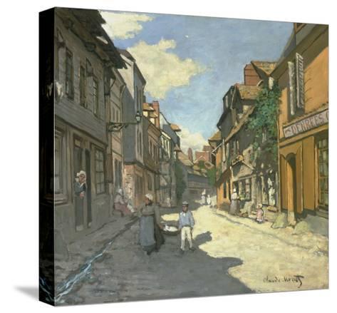 Village Street in Normandy (Rue De La Bavolle, Honfleur), about 1867-Claude Monet-Stretched Canvas Print