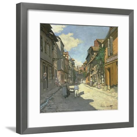 Village Street in Normandy (Rue De La Bavolle, Honfleur), about 1867-Claude Monet-Framed Art Print