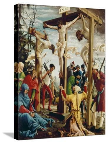 Passions/Sebastians-Altar in St.Florian the Crucifixion of Christ-Albrecht Altdorfer-Stretched Canvas Print