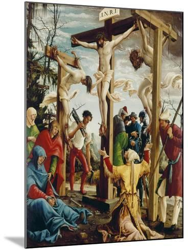 Passions/Sebastians-Altar in St.Florian the Crucifixion of Christ-Albrecht Altdorfer-Mounted Giclee Print