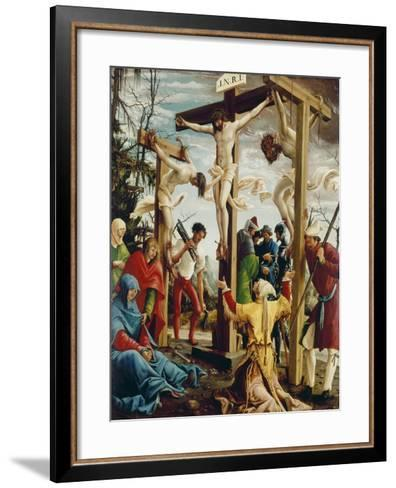 Passions/Sebastians-Altar in St.Florian the Crucifixion of Christ-Albrecht Altdorfer-Framed Art Print