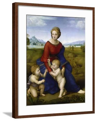 Madonna in the Meadow-Raphael-Framed Art Print