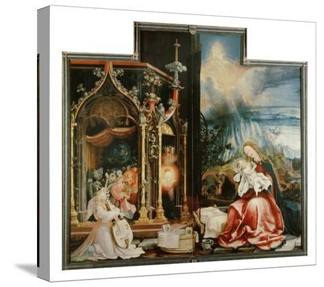 Isenheimer Altar. Inner Center Panel: Angel Concert and Nativitiy-Matthias Gr?newald-Stretched Canvas Print