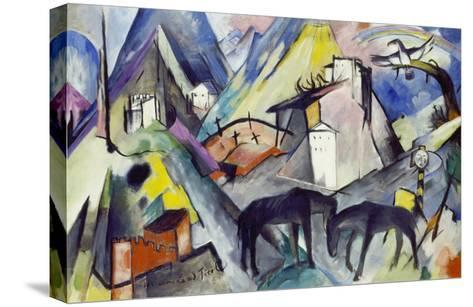 The Unfortunate Land of Tyrol, 1913-Franz Marc-Stretched Canvas Print