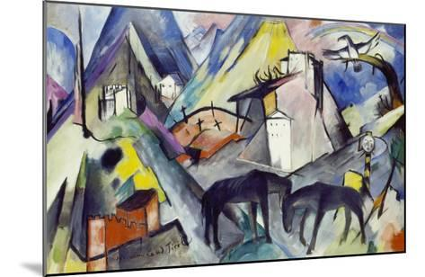 The Unfortunate Land of Tyrol, 1913-Franz Marc-Mounted Giclee Print