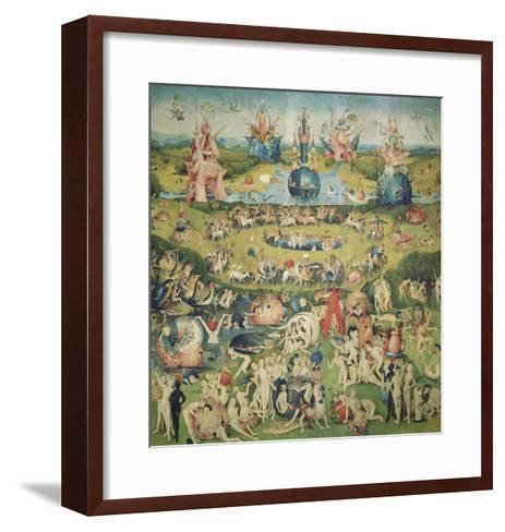 The Garden of Earthly Delights. Central Panel of Triptych-Hieronymus Bosch-Framed Art Print