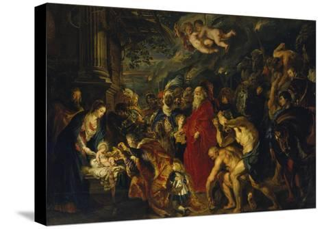 Adoration of the Magi, 1608 and 1628/29 (Enlarged)-Peter Paul Rubens-Stretched Canvas Print