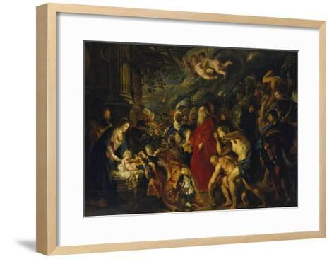 Adoration of the Magi, 1608 and 1628/29 (Enlarged)-Peter Paul Rubens-Framed Art Print