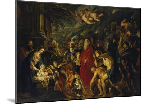 Adoration of the Magi, 1608 and 1628/29 (Enlarged)-Peter Paul Rubens-Mounted Giclee Print