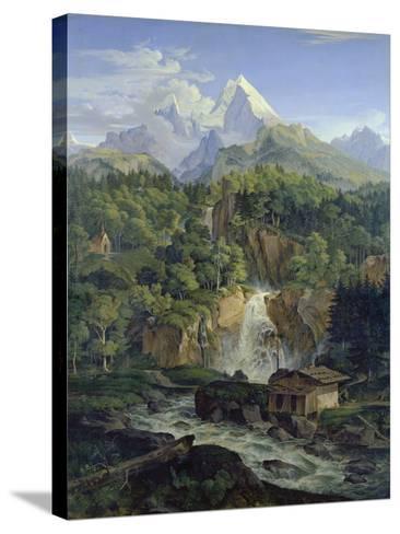 Der Watzmann, 1824-Ludwig Richter-Stretched Canvas Print
