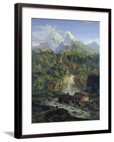Der Watzmann, 1824-Ludwig Richter-Framed Art Print