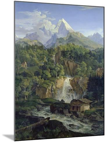 Der Watzmann, 1824-Ludwig Richter-Mounted Giclee Print