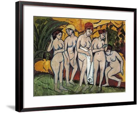 Woman Bathing, 1911-Ernst Ludwig Kirchner-Framed Art Print