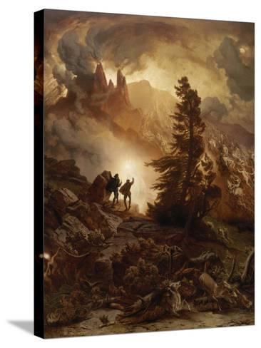 Walpurgis Night (From Goethe's Faust). before 1866-August Albert Zimmermann-Stretched Canvas Print