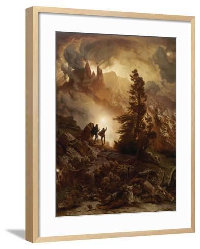 Walpurgis Night (From Goethe's Faust). before 1866-August Albert Zimmermann-Framed Art Print