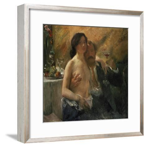 Self-Portrait with His Wife and Sekt Glass, 1902-Lovis Corinth-Framed Art Print