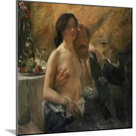 Self-Portrait with His Wife and Sekt Glass, 1902-Lovis Corinth-Mounted Giclee Print