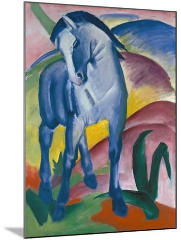 Blaues Pferd I., 1911-Franz Marc-Mounted Giclee Print