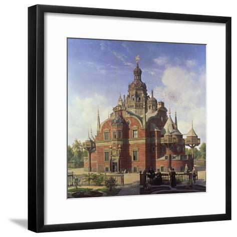 Tycho Brahe's Observatory, Uraniborg-Henrik Hansen-Framed Art Print