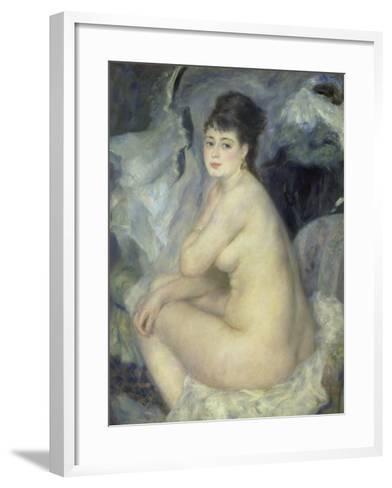 Weiblicher Akt (Anna), 1876-Pierre-Auguste Renoir-Framed Art Print