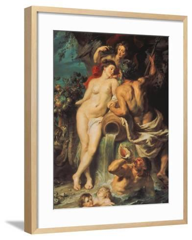 The Union of Earth and Water, about 1618-Peter Paul Rubens-Framed Art Print