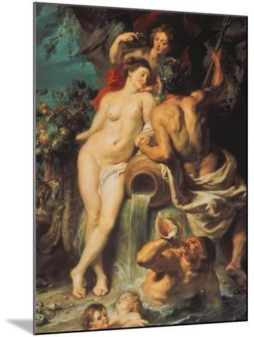 The Union of Earth and Water, about 1618-Peter Paul Rubens-Mounted Giclee Print