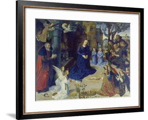The Portinari Altarpiece. Central Panel: the Adoration of the Shepherds-Hugo van der Goes-Framed Art Print