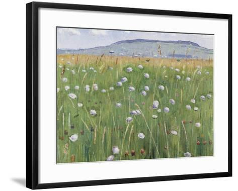 Meadow of Flowers, about 1901-Ferdinand Hodler-Framed Art Print