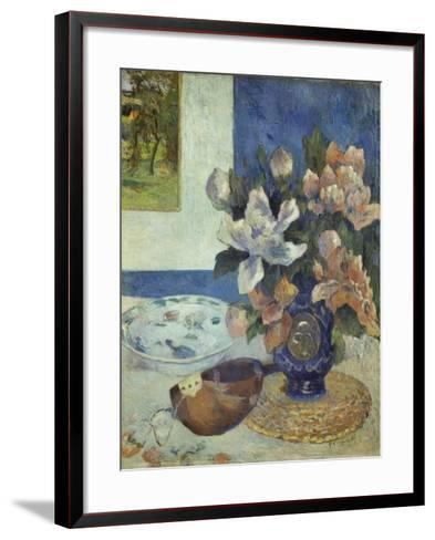 Still Life with a Mandolin, 1885-Paul Gauguin-Framed Art Print