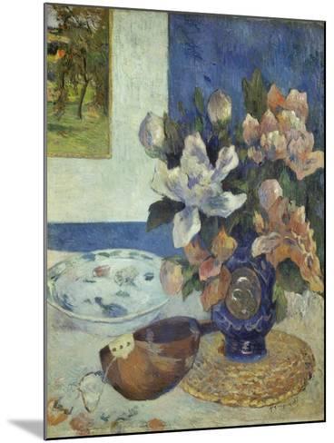 Still Life with a Mandolin, 1885-Paul Gauguin-Mounted Giclee Print