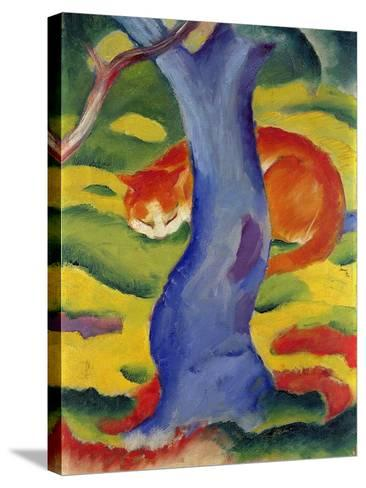Cat Behind a Tree, 1910/11-Franz Marc-Stretched Canvas Print