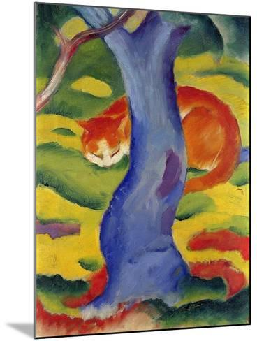 Cat Behind a Tree, 1910/11-Franz Marc-Mounted Giclee Print
