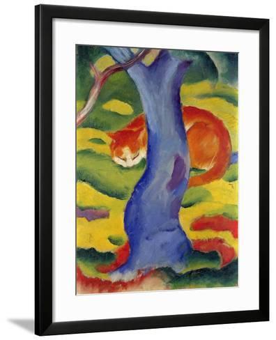 Cat Behind a Tree, 1910/11-Franz Marc-Framed Art Print