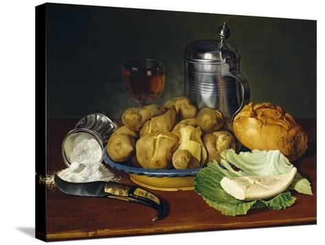 Still Life with Boiled Potatoes, 1836--Stretched Canvas Print