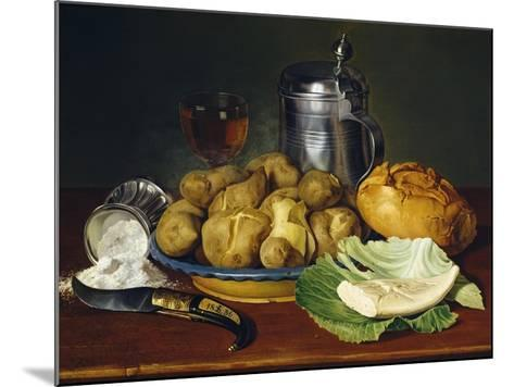 Still Life with Boiled Potatoes, 1836--Mounted Giclee Print