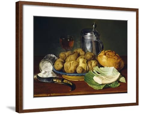 Still Life with Boiled Potatoes, 1836--Framed Art Print