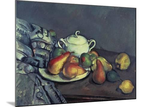 Still Life with Sugar Can, Pears and Tablecloth-Paul C?zanne-Mounted Giclee Print