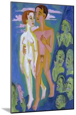 Das Paar Vor Den Menschen-Ernst Ludwig Kirchner-Mounted Giclee Print