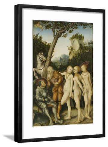 Das Urteil Des Paris, 1530-Lucas Cranach the Elder-Framed Art Print