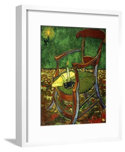 Gauguin's Chair (With Candle), 1888-Vincent van Gogh-Framed Art Print
