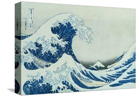 The Great Wave of Kanagawa, 1831-Katsushika Hokusai-Stretched Canvas Print